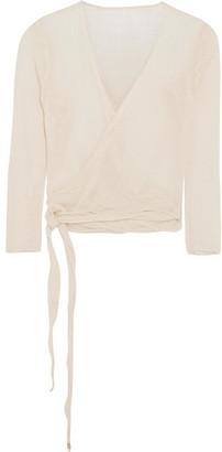 Caravana - Lahun Cotton-gauze Wrap Top - Off-white