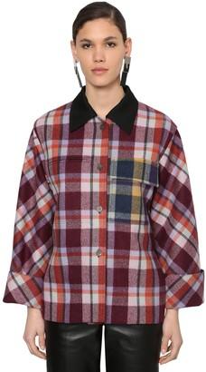 Loewe Check Wool Flannel Jacket
