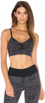 So Low SOLOW Noir Embossed Sport Bra