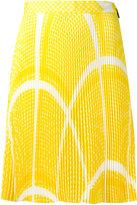 MSGM geometric pattern pleated skirt