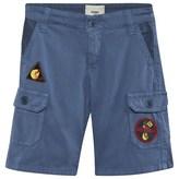 Fendi Blue Patch Detail Cargo Shorts
