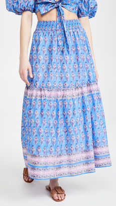 Playa Lucila Border Print Skirt