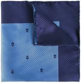 Alexander McQueen skull and dots pocket square - men - Silk - One Size