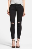 Mother Women's 'The Looker' Frayed Ankle Skinny Jeans