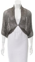 Alice + Olivia Sequin Open Knit Shrug