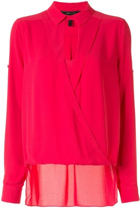BCBGMAXAZRIA Wrap-Effect Blouse