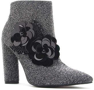 Qupid Women's Casual boots PWSTLU - Pewter Flower Miss Bootie - Women