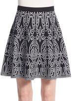 Saks Fifth Avenue BLACK Printed Knit Skirt