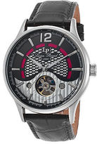 Lucien Piccard 15038-01 Men's Transway Automatic Black Genuine Leather