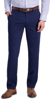 Louis Raphael Micro Stripe Flat Front Slim Fit Dress Pants