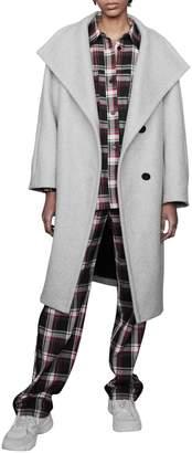 Maje Gael Wool-Blend Coat