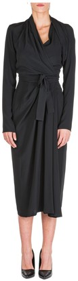 Rick Owens Asymmetric Midi Dress