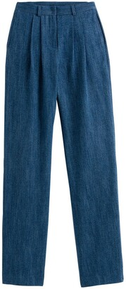 Vanessa Seward X La Redoute Collections Pleat Front Jeans, Length 34.5""