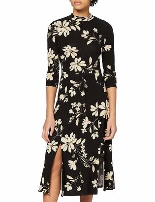 Dorothy Perkins Women's Large Floral Split Midi Dress