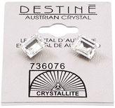 Crystallite Destine Austrian Cut Square Post Earrings