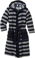 Schiesser Kids Bathrobe Terry striped long Unisex - /Grey: :