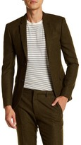 Topman Green Two Button Notch Lapel Extra Trim Suit Separates Jacket