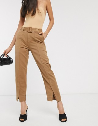 Maison Scotch tailored belted chino trousers