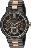 Vince Camuto Women's Quartz Stainless Steel Dress Watch, Color:Grey (Model: VC/5311RGTT)