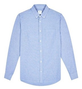 Dorothy Perkins Womens **Burton Light Blue Long Sleeve Oxford Shirt, Blue