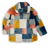 Stella McCartney Girl's Abbie Colorblock Faux Fur Jacket