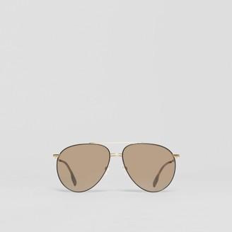 Burberry Top Bar Detail Pilot Sunglasses