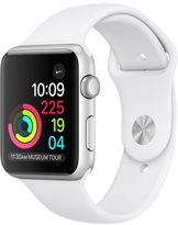 Apple Watch Series 1, 42mm Aluminum Case with White Sport Band