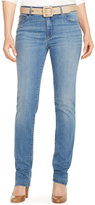 Lauren Ralph Lauren Petite Premier Stretch Straight-Leg Jeans, Perry Wash