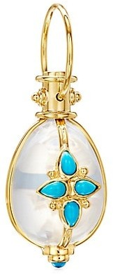 Temple St. Clair Cl Color 18K Yellow Gold, Crystal & Turquoise Mandala Amulet