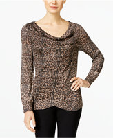 INC International Concepts Animal-Print Sweater, Only at Macy's