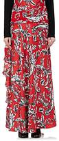J.W.Anderson Women's Ruffled Brocade-Print Silk Long Skirt