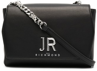 John Richmond Large Logo Plaque Cross Body Bag