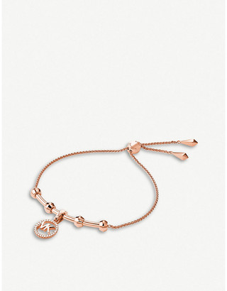 Michael Kors Custom Kors monogrammed rose gold-plated bracelet