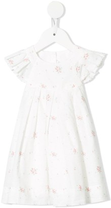 Tartine et Chocolat Pinafore Hydrangea print dress