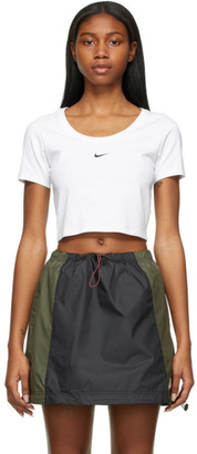 Nike White Sportswear Essential Cropped T-Shirt