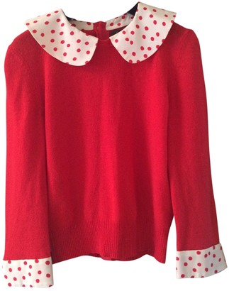 Louis Vuitton Red Cashmere Top for Women