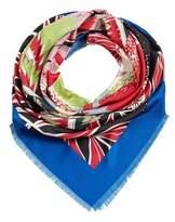 Violeta BY MANGO Printed satin scarf