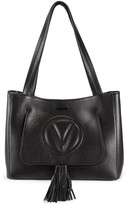 Mario Valentino Valentino By Estelle Tassel Pebbled-Leather Tote