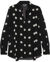 Moschino Polka-dot Silk-chiffon Shirt - Black