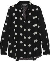 Moschino Polka-dot Silk-chiffon Shirt