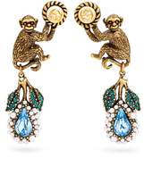 Gucci Monkey and flower earrings