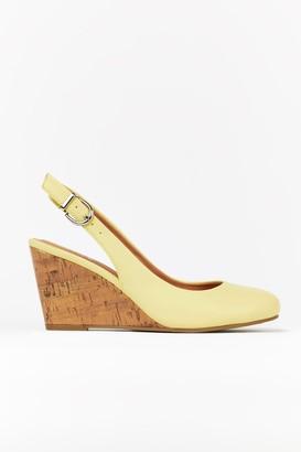 Wallis Yellow Slingback Wedge Heels