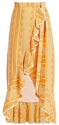 Azulu La Fantastica Wrap Maxi Skirt