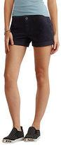 Aeropostale Womens Color Wash Twill Midi Shorts
