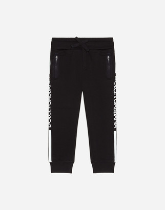 Dolce & Gabbana Jersey Jogging Pants With Branded Bands