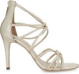 Sandro Ella metallic leather sandals