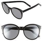 Saint Laurent Women's 'Classic' 54Mm Sunglasses - Black Solid Silver