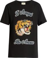 Gucci Tiger-appliqué crew-neck T-shirt