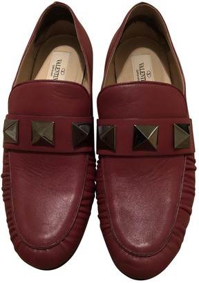 Valentino Rockstud Red Leather Flats