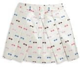 Milly Minis Toddler's & Little Girl's Embroidered Pleated Skirt